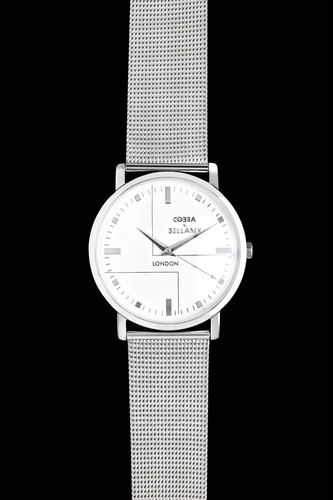 SENNEN - Brushed steel face, Stainless steel body, Stainless steel mesh strap