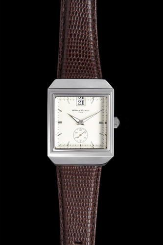 CLASSIC - White face, Brown leather strap