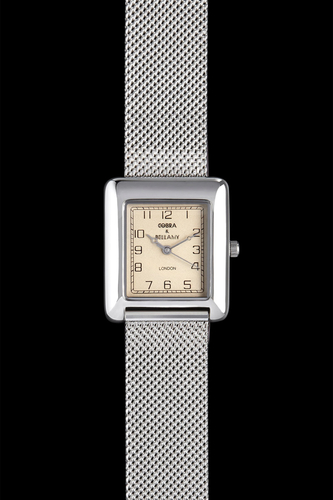 HUNTER - Antique face, Stainless steel mesh strap