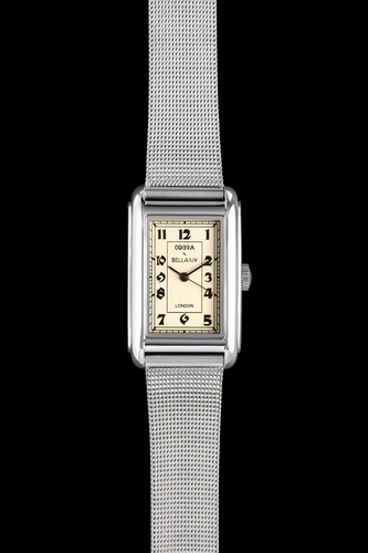 COBRA - Antique face, Stainless steel body, Stainless steel mesh strap