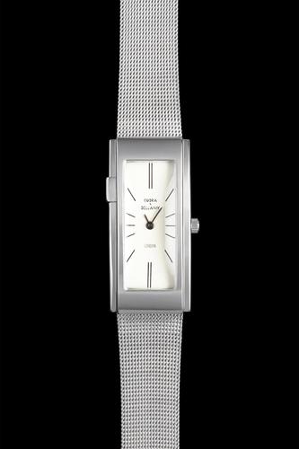 COBRA & BELLAMY - White face, Stainless steel body, Stainless steel mesh strap
